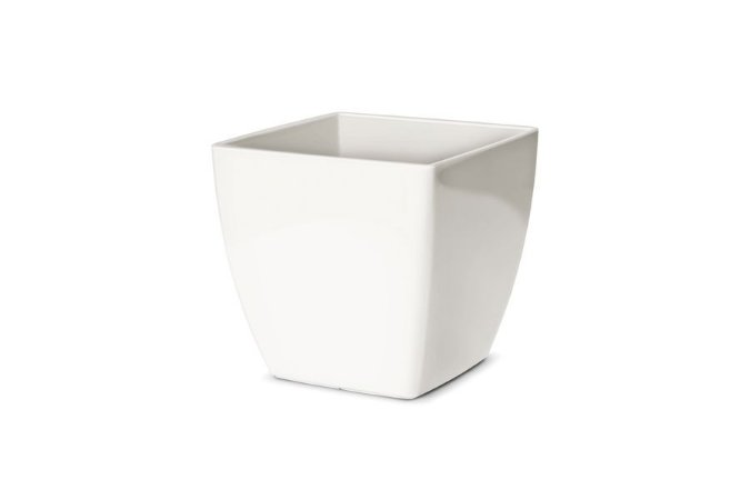 Cachepô N4 Elegance Quadrado Branco 16x16