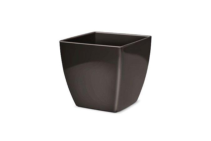 Cachepô N4 Elegance Quadrado Preto 16x16