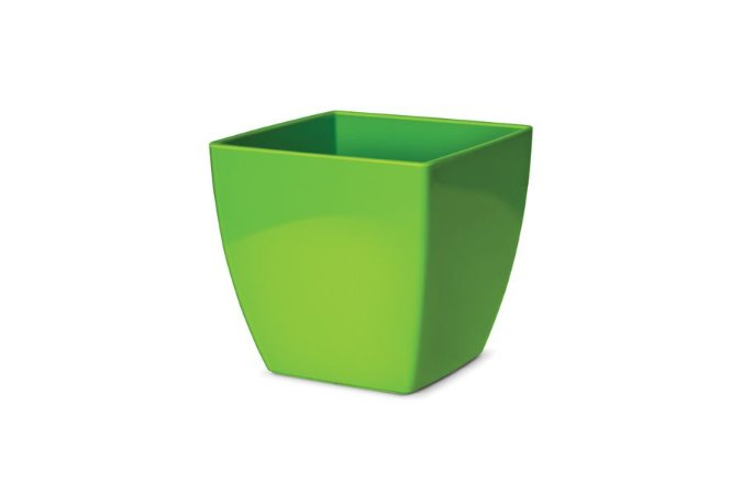 Cachepô N4 Elegance Quadrado Verde Limão 16x16