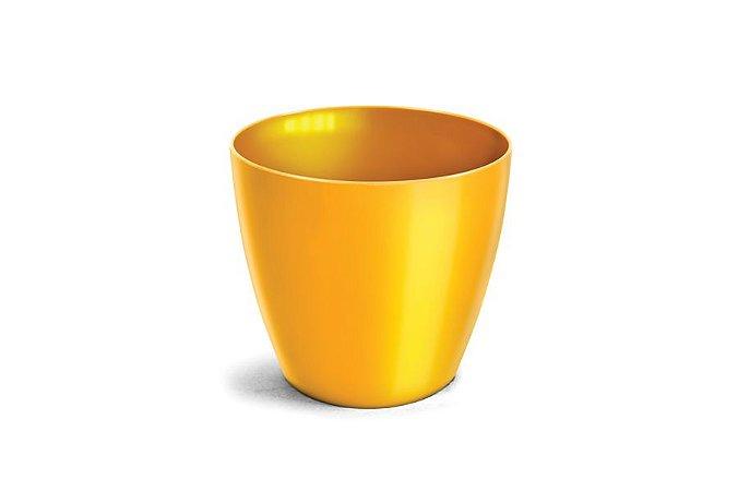 Cachepô N4 Elegance Redondo Amarelo 23x25