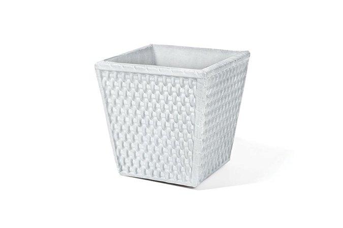 Cachepô N16 Athenas Trapézio Branco 16x16