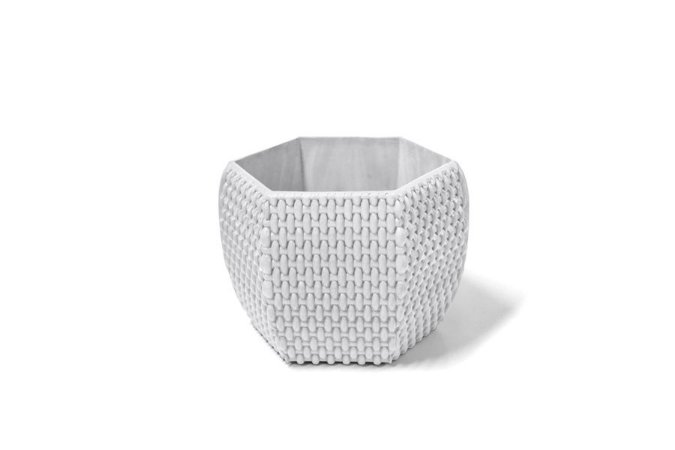 Cachepô N12 Athenas Hexagonal Branco 12x13