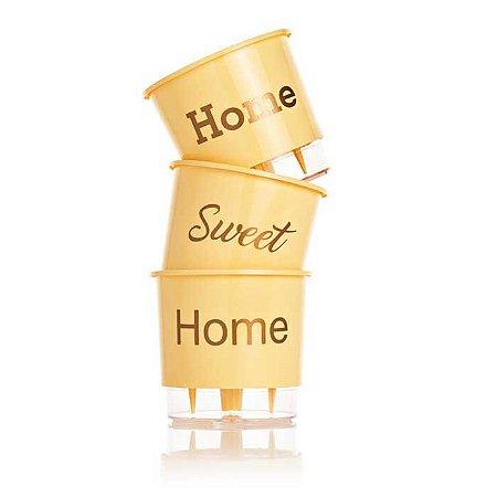 3 Vasos Auto Irrigáveis Home Sweet Home N03 Pêssego – Médio 16x14
