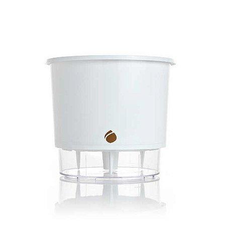 Vaso Auto Irrigável Wishes Branco N02 – Pequeno 11x12