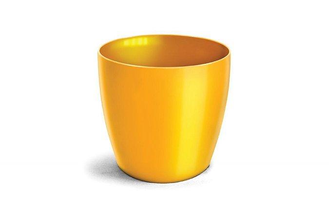 Vaso Cachepô Elegance Redondo N5 Amarelo 26x27