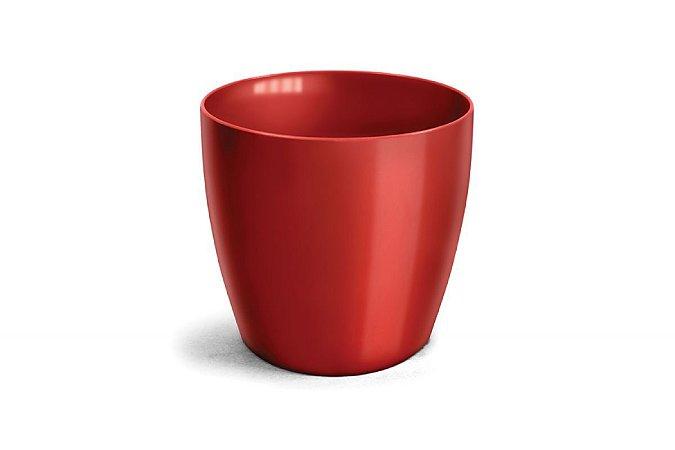 Vaso Cachepô Elegance Redondo N5 Vinho 26x27