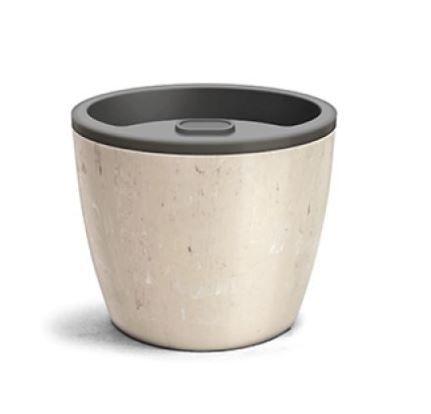 Vaso Elegance Autoirrigável N3 1,3 Litros 12,5 X 15,4 Travertino