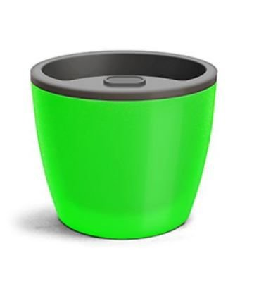Vaso Elegance Autoirrigável N3 1,3 Litros 12,5 X 15,4  Verde Neon