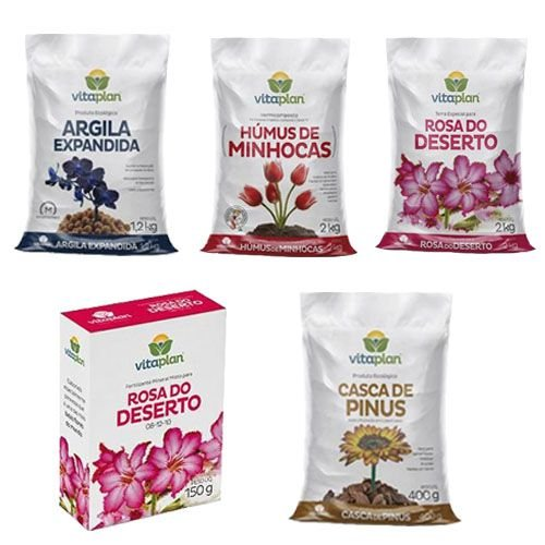 Kit para Plantio de Rosa do Deserto