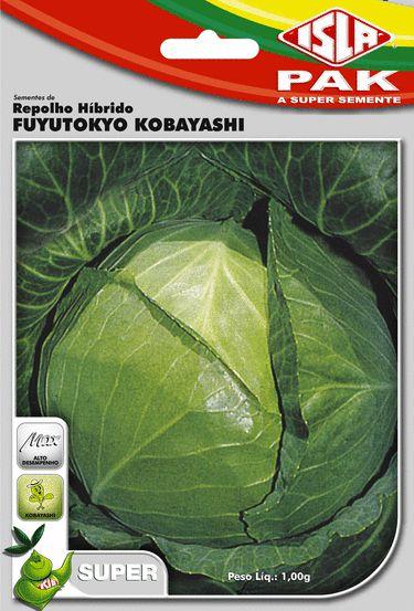 Sementes Repolho Híbrido Fuyutokio - Envelope 300Mg