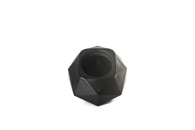 Vaso Cachepô Quartzo N22 Preto Capacidade 8 Litros