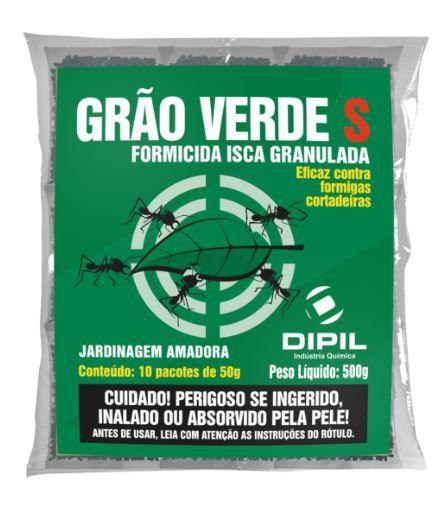 Isca formicida granulada Grão Verde S 500 Gramas - Controle de Formigas