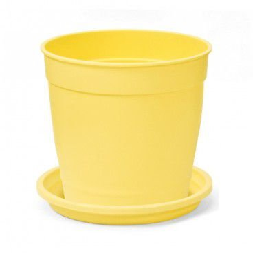 Vaso Aquarela N3,5 com prato Nutriplan  Amarelo