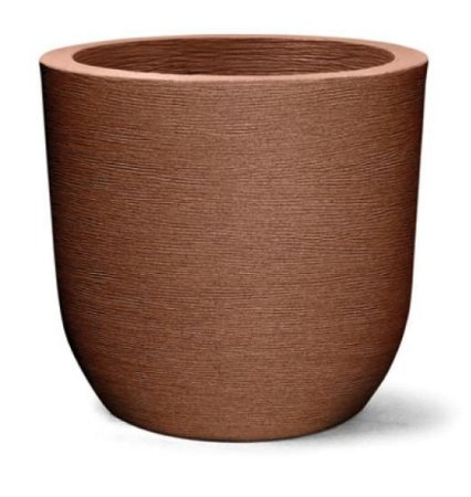 Vaso Grafiato Redondo Alto N28 Ferrugem 28x30