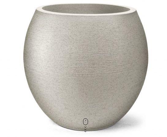 Vaso Grafiato Oval N26 Cimento 26x23