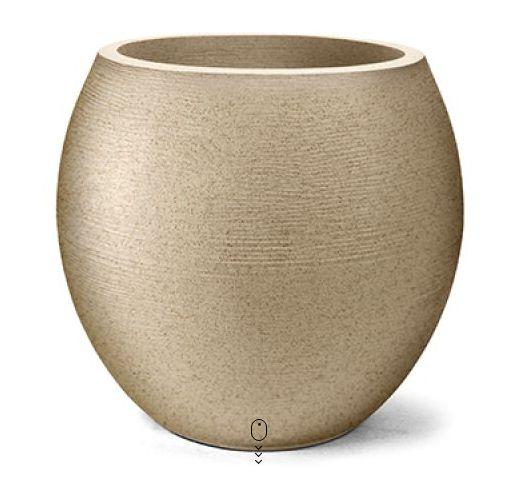 Vaso Grafiato Oval N42 Areia 42x37