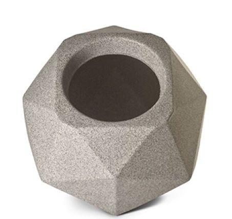 Vaso Cachepô Quartzo N16 Granito Capacidade 4,75 Litros