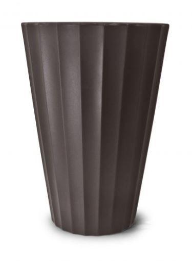 Vaso Creta Cônico N24 Tabaco 24x17