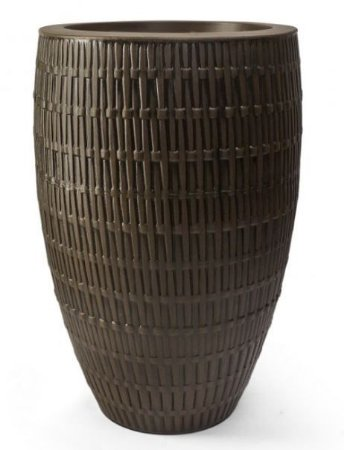 Vaso Bambu Oval N45 Carvalho 45x27,9