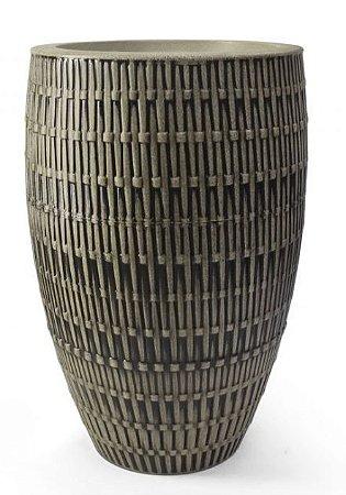 Vaso Bambu Oval N45 Amadeirado 45x27,9