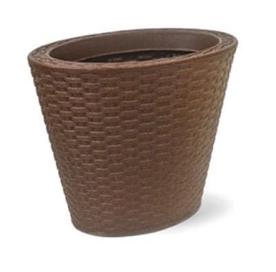 Vaso Treccia Oval N33 Ferrugem 33x43
