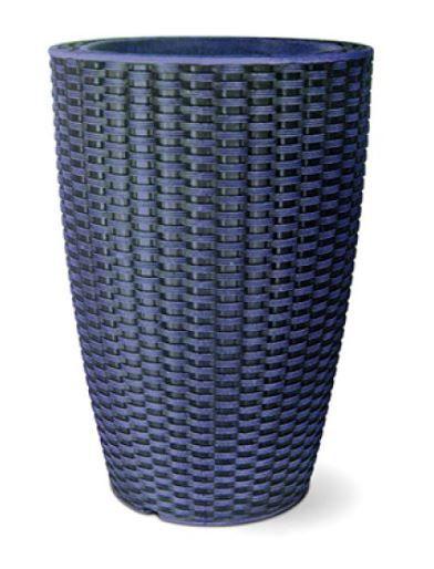 Vaso Treccia Cônico N53 Azul 53X36
