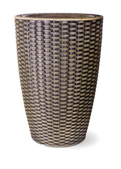Vaso Treccia Cônico N39 Envelhecido 39x29,9
