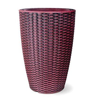 Vaso Treccia Cônico N30 Rubi 30x20,5