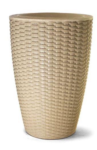 Vaso Treccia Cônico N30 Areia 30x20,5
