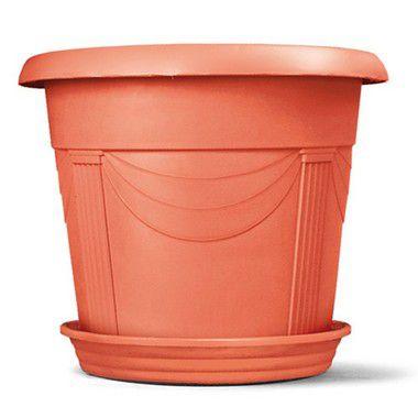 Vaso Plástico Romano Redondo N4 35,5 Litros - Cerâmica