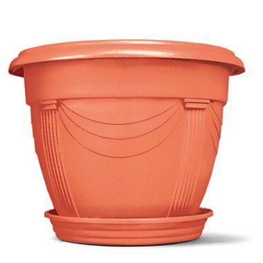 Vaso Plástico Romano Redondo N2 8,5 Litros - Cerâmica