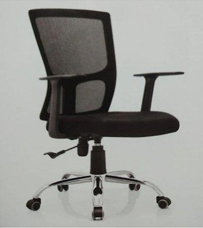 Cadeira Escritório Reclinável Giratória Ergonômica Preta Envio Imediato