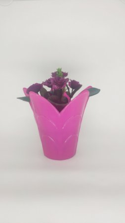 VASO PET TULIPA FLEXIVEL G ROSA  KIT COM 5 UNIDADES