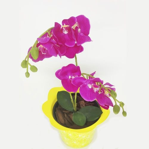 VASO PET FLOR FLEXIVEL MINI  AMARELO - KIT COM 20 UNIDADES