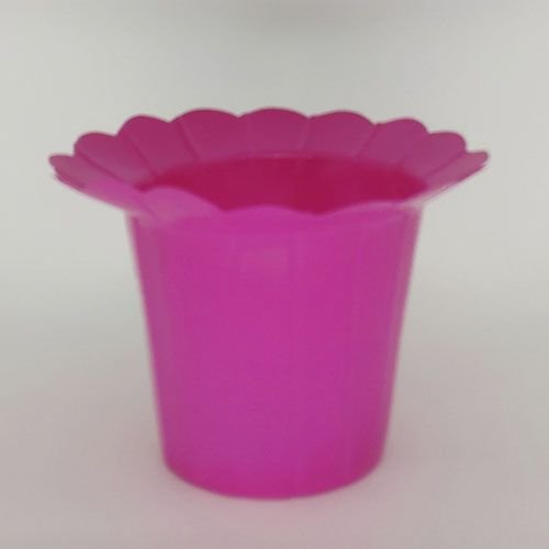 VASO PET GIRASSOL FLEXIVEL P  - ROSA - KIT COM 20 UNIDADES