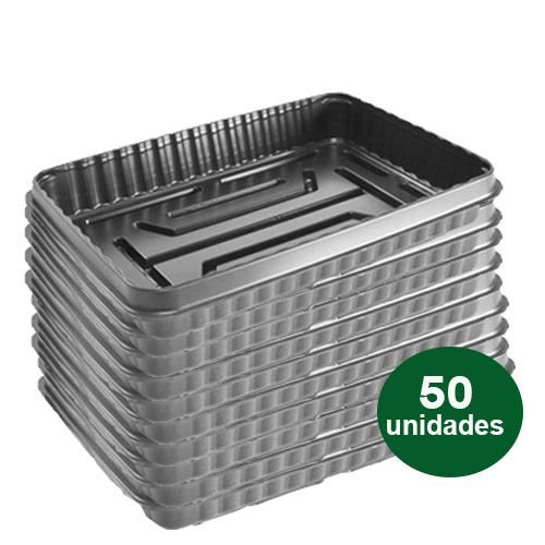 BANDEJA PLASTICA 01 CELULA MEDIA - 50 UND