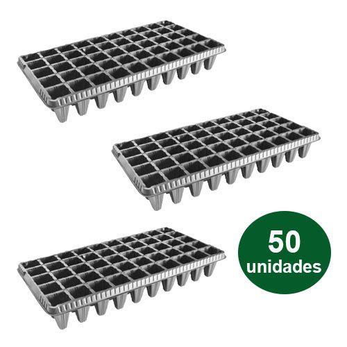 BANDEJA PLASTICA 50 CELULAS - 50 UND