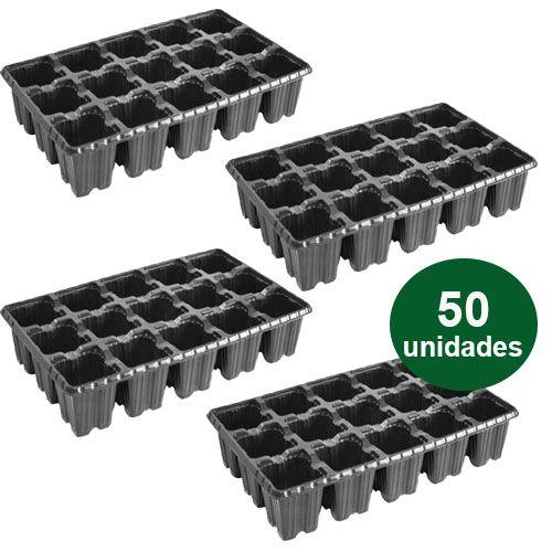 BANDEJA PLASTICA 15 CELULAS ALTA - 50 UND