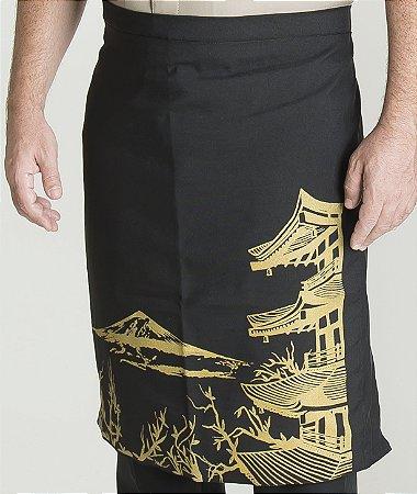 Avental Estampado Honshu na Cor Dourada