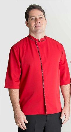 Hapi Masculino na Cor Vermelha com Botões Embutidos