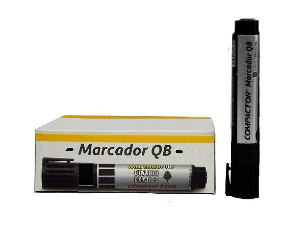Marcador p/Q.Branco Preto / caixa com 12 unidades