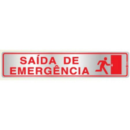 Placa em Alumínio Saída de Emergência