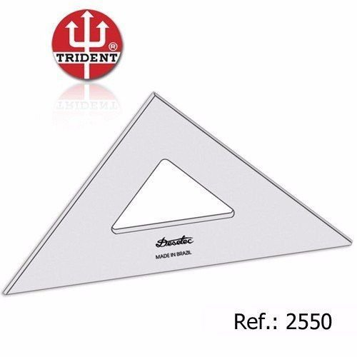 Esquadro Acrílico 45°/45°/90° 50 cm Ref. 2550