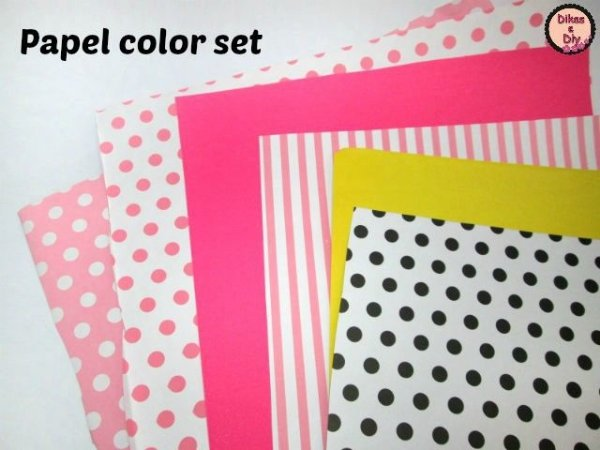 Papel Color Set Decorado Por Apenas: R$ 1,40