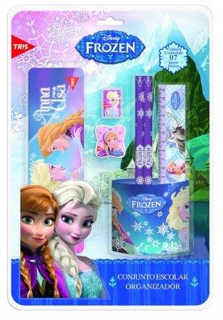 Conjunto Escolar Organizador Frozen