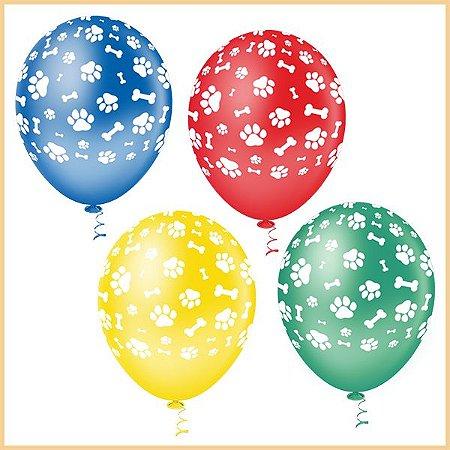 Balões Ossinhos e Patinhas | 4 unidades
