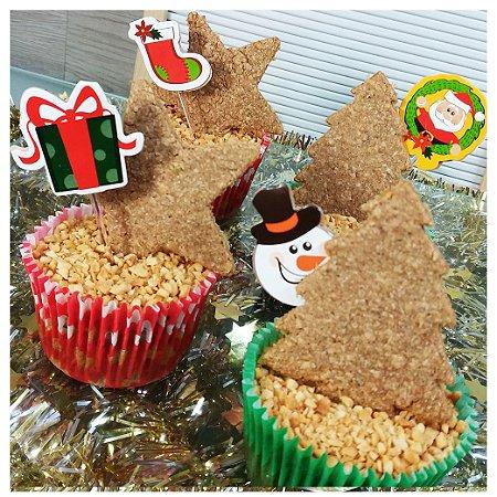 Cupcakes Árvore e Estrela   4 unidades