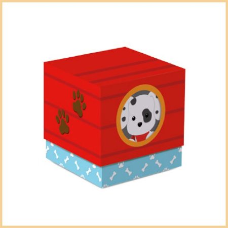 Caixa Cubo Cachorrinhos | 2 unidades