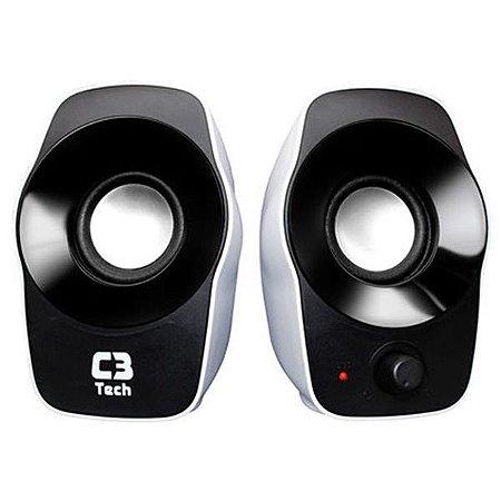 CAIXA SOM MINI ( 3W) (BRANCO/PRETO) (USB) (C3TECH)(SP-206)