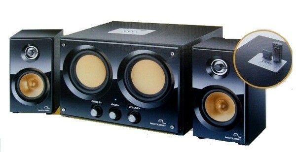 CAIXA SOM SUBWOOFER ( 30W)(PRETO)(USB/SD/FM)(MULT)SP118